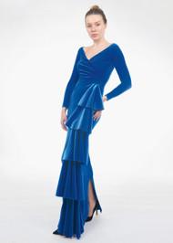 *FALL/WINTER 2021 TRUNK SHOW* Chiara Boni La Petite Robe Trinity Velvet Long Gown