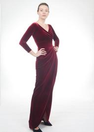 *FALL/WINTER 2021 TRUNK SHOW* Chiara Boni La Petite Robe Peace Long Velvet Gown
