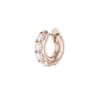 Spinelli Kilcollin 18K Rose Gold Mini Macro Hoop Pave Earrings (Pair)
