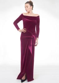 *FALL/WINTER 2021 TRUNK SHOW* Chiara Boni La Petite Robe Mirka Velvet Long Gown