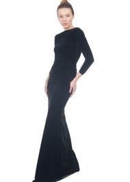 *FALL/WINTER 2021 TRUNK SHOW* Chiara Boni La Petite Robe Klaida Velvet Long Gown