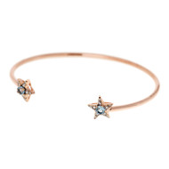 Selim Mouzannar Istanbul Bracelet in 18K Pink Gold Set with Diamonds and Aquamarine