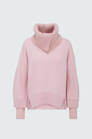 Dorothee Schumacher Timeless Ease Turtleneck Sweater in Rose Patch