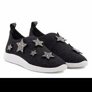 Giuseppe Zanotti Donna Black Shimmer Slip On Sneaker