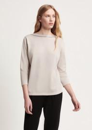 Fabiana Filippi Reversible Point Embellishment Cotton Sweater in Dune
