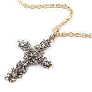 *TRUNK SHOW* Sylva & Cie. 14K Yellow Gold Gerogian 19th Century Cross Pendant with Chain