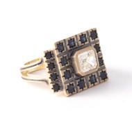 *TRUNK SHOW* Sylva & Cie. 18K Yellow Gold Sapphire and Diamond Renee Ring