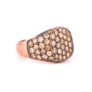 *TRUNK SHOW* Sylva & Cie. 14K Rose Gold Fancy Yellow Diamond Ghetto Chic Ring, Size 7