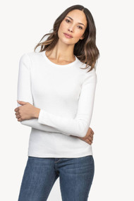 Lilla   P Long Sleeve Crew in White