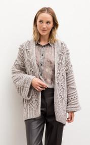 Iris Von Arnim Myrthe Cashmere/Silk Handknit Cardigan in Natural
