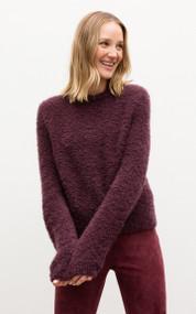 Iris Von Arnim Lara Cashmere Blend Sweater in Plum
