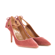 Aquazzura Forever Marilyn Antique Rose Pump with Tassel Detail
