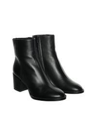 Fabiana Filippi Eliana Leather Shearling Boots in Black