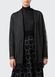 Akris Layered Oversized Cashmere Cardigan
