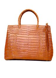 Nancy Gonzalez Tote Bag in Matte Cognac