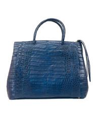 Nancy Gonzalez Tote Bag in Shiny Navy