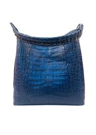 Nancy Gonzalez Anne Hobo Tote Bag in Shiny Navy