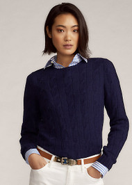 Ralph Lauren Cable-Knit Cashmere Sweater in Lux Navy