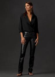 Ralph Lauren Dakota Lambskin Pants in Black