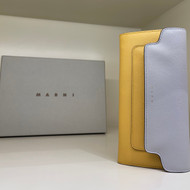 Marni Color Block Wallet in Maize
