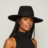 Eugenia Kim Harlowe Wool Wide Brim Fedora Hat in Black