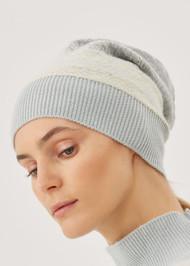 Fabiana Filippi Jacquard Cashmere Hat in Jade Green
