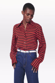 Victoria Beckham Printed Blouse in Red/Black