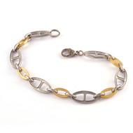 *PRE-ORDER* Sylva & Cie. 18K Yellow Gold and Platinum Oval Link Bracelet