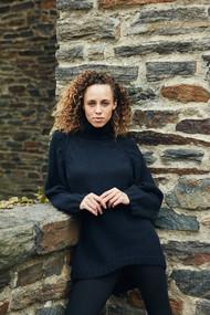 *PRE-ORDER* Augustina Cashmere New Celesta Hi-Lo Sweater in Black