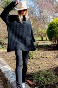 *PRE-ORDER* Augustina Cashmere Mariana Sweater in Black