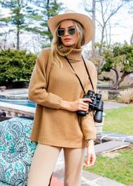 *PRE-ORDER* Augustina Cashmere Helina Turtleneck Sweater in Camel