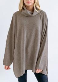 *PRE-ORDER* Augustina Cashmere Clara Cowl Neck Sweater in Dark Natural