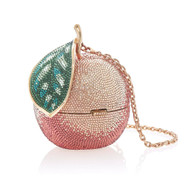 *PRE-ORDER   SPRING '22* Judith Leiber Couture Peach Novelty Clutch