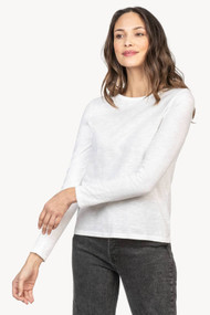 Lilla   P Long Sleeve Crew Neck with Back Seam in White