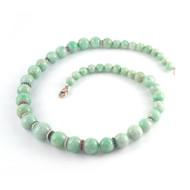 *PRE-ORDER* Sylva & Cie. 18K White Gold Jade Necklace