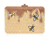 *PRE-ORDER   SPRING '22* Judith Leiber Couture Slim Slide Honeycomb Clutch
