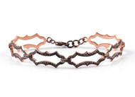 *COMING SOON* Sylva & Cie. 14K Rose Gold Black Diamond Bracelet