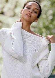*PRE-ORDER* Lafayette 148 New York Italian Alpaca-Silk Sweater in Cloud