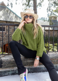 *PRE-ORDER* Augustina Cashmere Gstaad 4 Cable Sweater in Green