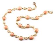 "*PRE-ORDER* Sylva & Cie. 18K Yellow Gold Japanese Coral Necklace, 17"""