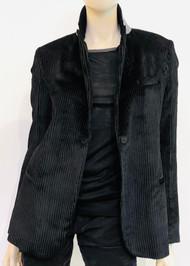 Fabiana Filippi Velvet Alpha Jacket in Black