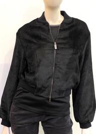 Fabiana Filippi Cropped Bomber Jacket in Black