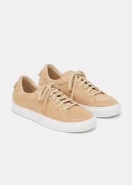*PRE-ORDER* Lafayette 148 New York Farren Court Suede Sneakers in Oatmeal