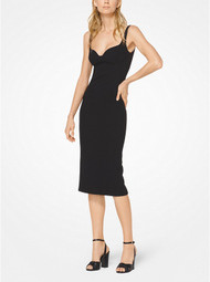 Michael Kors Stretch Bouclé-Crepe Black Sheath Dress