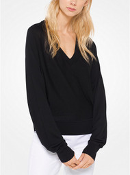 Michael Kors Black V-Neck Pullover