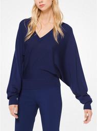 Michael Kors Sapphire V-Neck Pullover