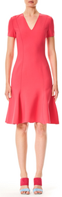 Carolina Herrera V-neck Short Dress