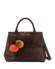 Nancy Gonzalez Sophie Pom Pom Satchel Bag