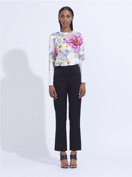 Prabal Gurung Floral Long Sleeve Tee