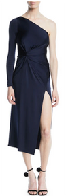 Cushnie Poppy One Shoulder Dress with Twist Detail